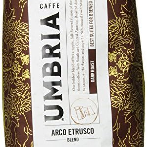 Caffe Umbria Fresh Seattle Whole Bean Roasted Coffee, Arco Etrusco Blend Dark Roast, 12 oz. Bag 1