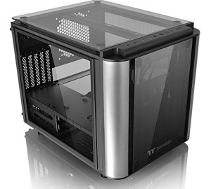 Thermaltake Level 20 VT Tempered Glass Interchangeable Panel DIY LCS Chamber Concept Micro ATX Modular Gaming Computer Case CA-1L2-00S1WN-00