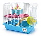 BPS Cage à hamster Chalet pour Hamster avec escalier, bain, roue...
