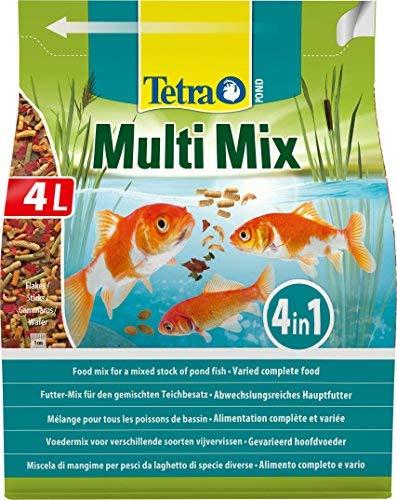 Tetra Pond Multi Mix - Miscela di mangime per pesci da laghetto di specie diverse 4 L