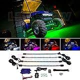 LEDGlow 4pc Standard Million Color LED Golf Cart Underglow Accent Neon...