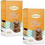 BAKED Old School Oatmeal Chocolate Chip Cookie Mix. Makes 20 cookies, just add Butter & Egg. Chewy & Chocolatey. (Pack of 2)