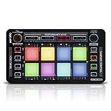 Reloop Neon - Controller Add-on USB per DJ con Drum Pad RGB ad Alte Prestazioni Sensibile alla Velocità, Plug and Play con Serato DJ (Nero)