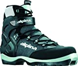 Alpina BC-1550 Back-Country Nordic Cross-Country Ski Boots, for use with NNN-BC Bindings, Black/Silver, 37