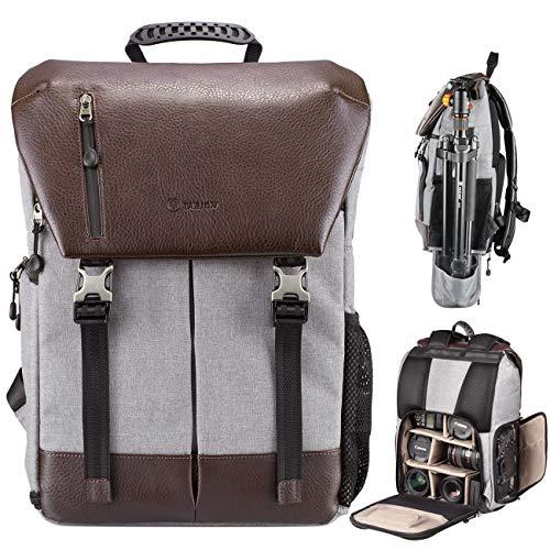 TARION Kamerarucksack Wasserdicht Fotorucksack Spiegelreflex Kameratasche Zertifizierte IPX5 Wasserdicht Kamera Rucksack mit Regenhaube für Damen und Herren