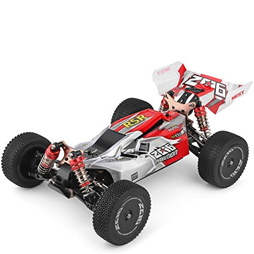 Ocamo WLtoys 144001 RTR 2.4GHz RC 1/14 Scale Drift Racing Car 4WD Metal Chassis Shaft Ball Bearing Gear Hydraulic Shock Absober red