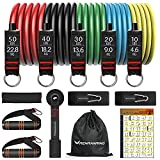 Resistance Bands Set - Exercise Resistance Band with Handle, 5 Resistance Tube Bands with Door Anchor Attachment, Elastic Bands for Exercise, Gym Equipment for Home Workout