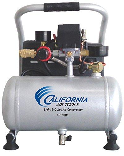 Herramientas del aire de California cat-1p1060s Luz & Silencioso Compresor De Aire Portátil, Plata
