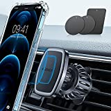 LISEN Car Phone Holder Mount, [Upgraded Clip] Magnetic Phone Car Mount [6 Strong Magnets] Cell Phone...