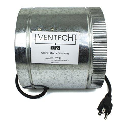 "VenTech DF8 8"" Duct Fan 400 CFM"
