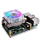 GeeekPi Raspberry Pi 4 Fan, Raspberry Pi Low-Profile CPU Cooler with RGB Cooling Fan and Raspberry Pi Heatsink for Raspberry Pi 4 Model B & Raspberry Pi 3B+ & Raspberry Pi 3 Model B