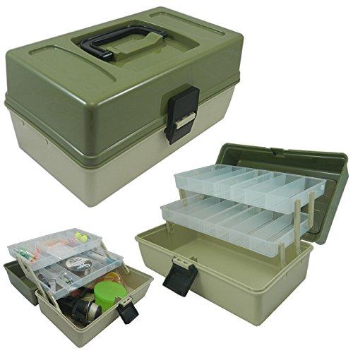 Box da Pesca  2 Ripiani scorrevoli componibili strutturati a Scomparti  Ideale per ami ed Esche