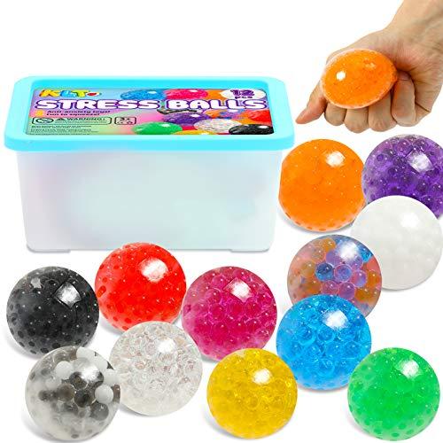 KLT 12 Pack Stress Balls Sensory Toys for Kids Adults Stress...