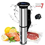 220V, EU Plug Waterproof Sous Vide Cooker Immersion Circulator, 1200 Watts Vacuum Food Cooker, Is the Perfect Kitchen Appliance for Hands-off Cooking of Vegetables, Meat and Much More With Consistent