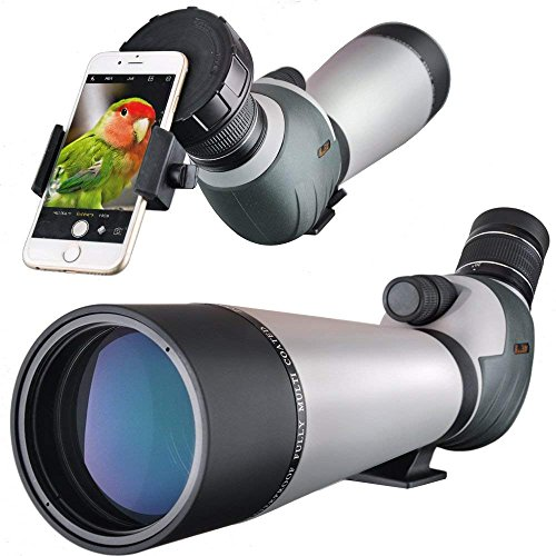 Landove Catalejos 20-60x 80 Telescopio Terrestre Impermeable de - con Adaptador Digiscoping