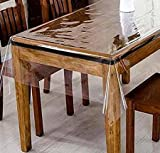 DiamondHome Clear_Transparent Tablecloth Heavy Duty Kitchen Table TOP Cover Water Proof Hard Plastic Vinyl Spills Protector (60' x 90')