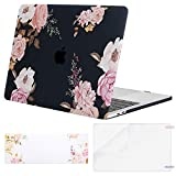 MOSISO MacBook Pro 13 inch Case 2020 2019 2018 2017 2016 Release A2159 A1989 A1706 A1708, Plastic Pattern Hard Shell&Keyboard Cover&Screen Protector Compatible with MacBook Pro 13, Pink Peony