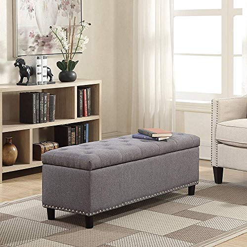 Store Furniture Urban Design Organizer Stool Chest Storage Box with Lid/Multi-Functional Collapsible Ottoman Footrest Seat Footstool