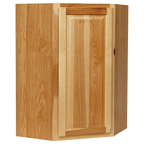 24x36x12 in. Hampton Wall Diagonal Corner Cabinet in Natural Hickory