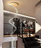 HUIRUI Duplex Appartement Escaliers Lustres Simple Pendentif Lamp Loft...