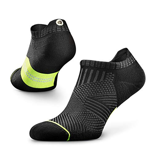 Rockay Accelerate Anti-Blister Running Socks for Men and Women, Cushion, Ankle Cut, Arch Support, 100% Recycled, Anti-Odor (1 Pair)