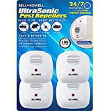 Bell + Howell Ultrasonic Pest Repeller Home Kit (Pack of 4), Ultrasonic Pest Repeller, Pest Repellent for Home, Bedroom, Office, Kitchen, Warehouse, Hotel, Safe for Human and Pet