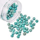 nbeads 1 Boîte 120Pcs / Boîte Naturel Turquoise Perles Perles Lâches Rondes...