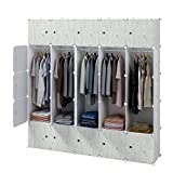 KOUSI Dresser Small Closet Wardrobe Drawer Storage for Clothes Small Wardrobe Storage for Small Spaces Clothes Storage Dresser, Capacious Customizable (Green, 25 Cubes)