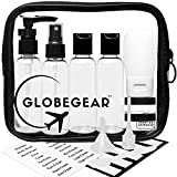 Travel Bottles & TSA Approved Clear Quart Size Bag Empty for Toiletries and Liquid with Leak-Proof Containers & Accessories (model GG1)