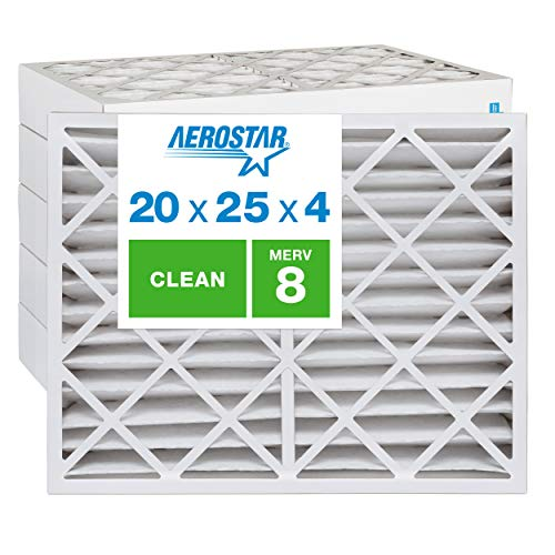 Aerostar Clean House 20x25x4 MERV 8 Pleated Air Filter, Made...