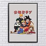 DIY Pintar por números Cuadro nórdico Luffy My Hero Academia Naruto Anime Cuadro moderno pintura por números Con pincel y pintura acrílica pintura por números para adultos pin40x60cm(Sin marco)