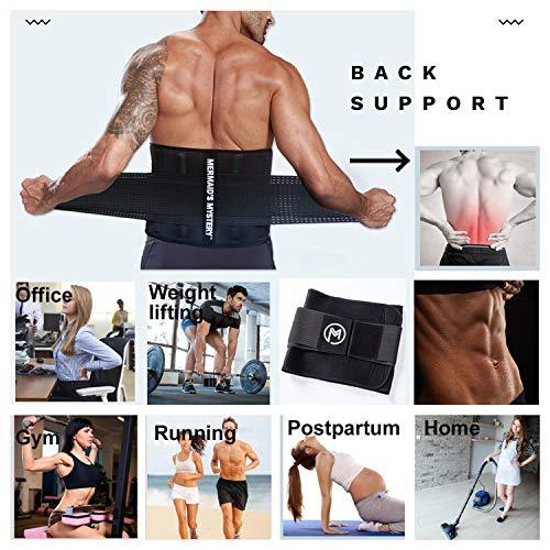 MERMAID'S MYSTERY Waist Trimmer Trainer Belt for Women Men Weight Loss Premium Neoprene Sport Sweat Workout Slimming Body Shaper Sauna Exercise 7