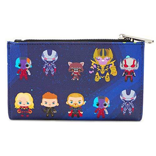 Loungefly x Marvel Avengers: Endgame Chibi All-Over Print Flap Wallet