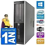 HP PC Compaq 6200 Pro SFF Intel G630 RAM 4Go Disque Dur 250Go Windows 10 WiFi (Reconditionné)