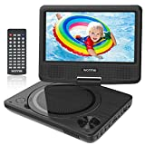 WONNIE 9' Portable DVD Player for Kids, Travel DVD Player for Car, with 7' Swivel Screen, Remote...