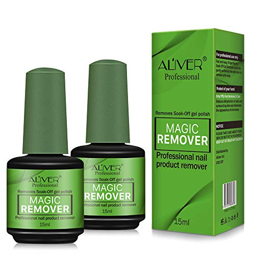 2pcs Magic Nail Polish Remover, Professional Removes Soak-Off Gel Polish IN 3-5 Minutes, Easily & Quickly, Don't Hurt Your Nails
