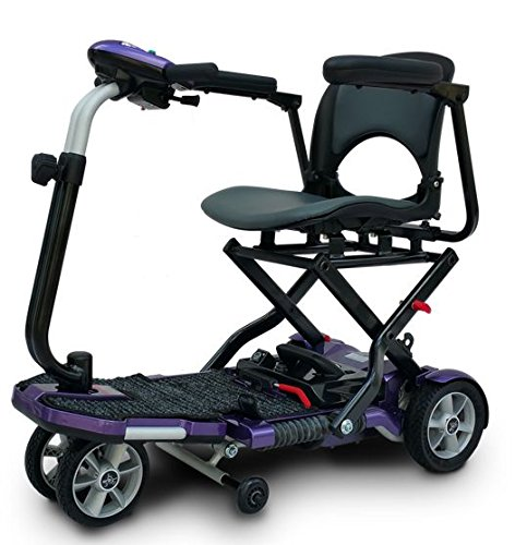 Transport Folding Travel Mobility Scooter SLA Batteries & Armrests - Grabber Grape