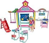 Barbie Famille Coffret Chelsea à l'école, mini-poupée blonde, bureaux,...