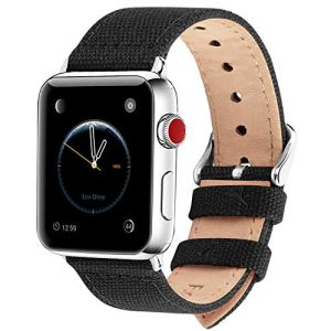 Fullmosa Compatible Apple Watch Band 44mm 42mm 40mm 38mm, 8 Colors Canvas Style for iWatch Strap Compatible with Apple Watch Series 4 Series 5 (44mm 40mm) Series 3 Series 2 Series 1 (42mm 38mm)