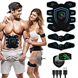 UMATE Abs Stimulator Workout Equipment for Home Workouts,Muscle Stimulator, USB Rechargeable Toning Belt ABS Fit Weight Muscle Toner Workout Machine for Men & Women