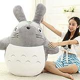 L&WB Plusieurs Tailles, Big Cute Totoro Peluche Jumbo géant Gros Animaux empaillés Jouet Mou poupée Oreiller Coussin Anniversaire Cadeau de Vacances,A,120cm
