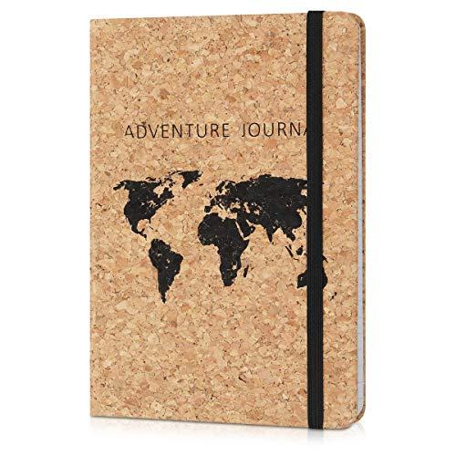 Navaris Carnet de notes - Carnet de voyage avec couverture en liège et...