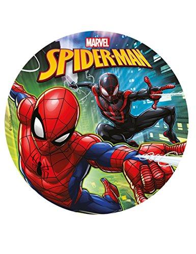 Disco di zucchero Spiderman 20 cm Taglia Unica