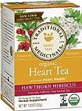 Traditional Medicinals Organic Heart Tea, 16 -Count Tea Bags, (Pack of 6)