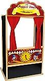 small foot 6099 Théâtre de marionnettes 'Guignol' en bois, magnifiquement décoré, en couleurs vives, idéal pour les anniversaires, à partir de 3 ans