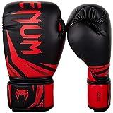 Venum Challenger 3.0 Gants de Boxe Mixte Adulte, Noir / Rouge, 12 Oz