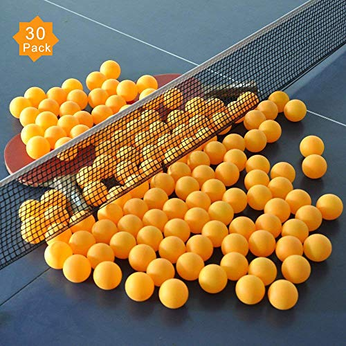 ZHENAN 30-Pack 3-Star 40+ New Material Table Tennis Balls,More Durable,Advanced Training Ping Pong Balls (Practice Ping Pong Ball)