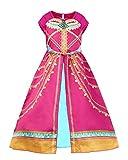 JiaDuo Girls Princess Costume Toddler Halloween Party Dress Up 9-10 Years Rose Red