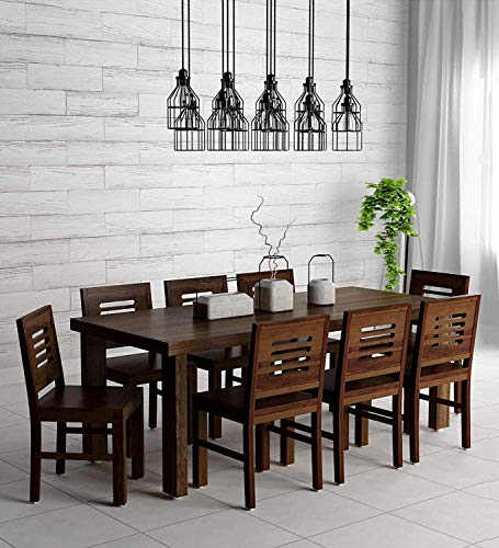 Jangid Handicraft Sheesham Wood 8 Seater Dining Table for Living Room Home Hall Hotel Dinner Restaurant Wooden Dining Table Dining Room Set Dining Table with 8 Chairs