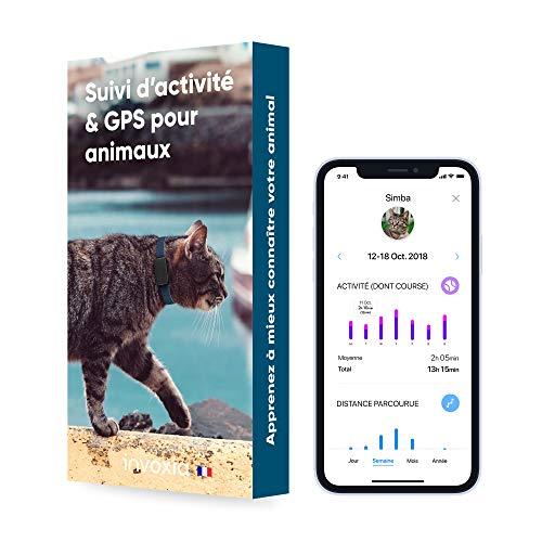 Invoxia - Pet Tracker - Mini Traceur pour Chat et Chien - Suivi d'Activité Bien-être et Zone GPS - Abonnement 3 Ans Inclus & Longue Autonomie